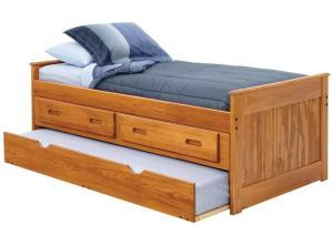 Tempat Tidur minimalis double Laci Kecil