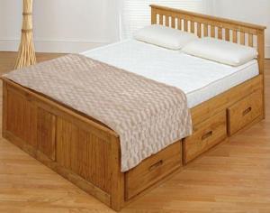 Tempat tidur Minimalis laci bawah